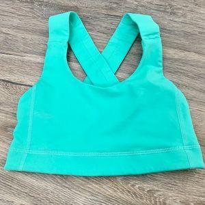 Bright turquoise lululemon sports bra size 2